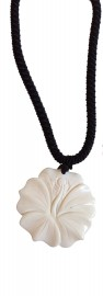 Bone Hibiscus Necklace