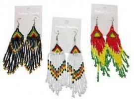 Rasta color Beads Earrings