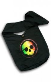 Rasta Style Shoulder Bag - Skull