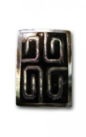 Rectangle Carved Black Mother of Pearl