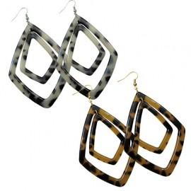 Turtle Shell Earrings - Diamond Shape