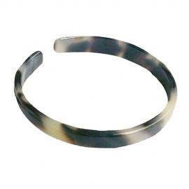 Extra Thin Turtle Shell Bracelet .6cm - White