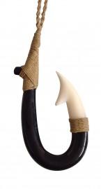 Buffalo Horn And Bone Pendant