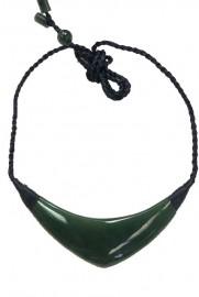 Jade Boomerang Style Pendant Necklace