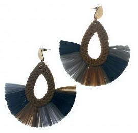 Lauhala/Straw Earrings
