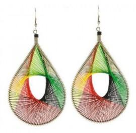 Rasta Style Dream Catcher Earrings
