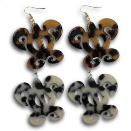 Turtle Shell Turtle Earrings