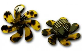 Faux Turtle Shell Tiare Ring