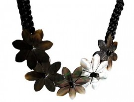 Black Mother of Pearl Tiare Necklace
