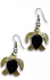 Mother of Pearl honu earrings